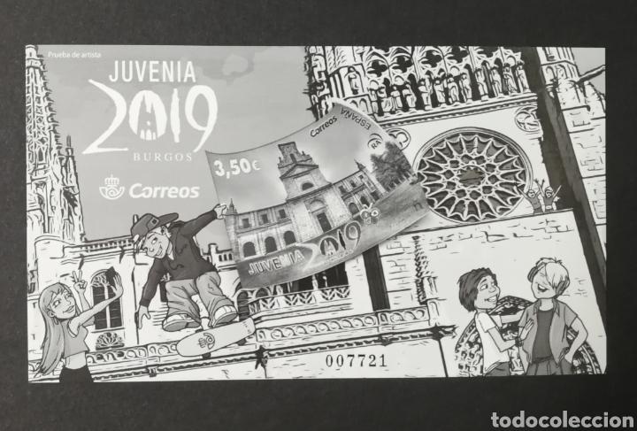PRUEBA DE LUJO N°142 NUEVA, JUVENIA 2019 (FOTOGRAFÍA REAL) (Sellos - España - Pruebas y Minipliegos)