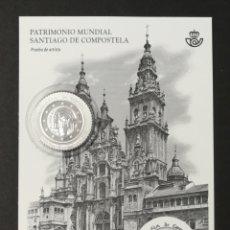 Sellos: PRUEBA DE LUJO N°136 NUEVA, PATRIMONIO MUNDIAL, SANTIAGO DE COMPOSTELA 2018 (FOTOGRAFÍA REAL). Lote 233880975