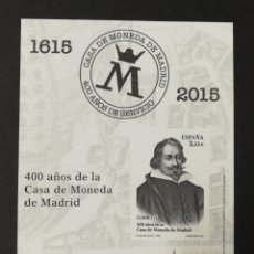Sellos: PRUEBA DE LUJO N°124 NUEVA, 400 AÑOS DE LA CASA DE LA MONEDA 2015 (FOTOGRAFÍA REAL). Lote 233896175