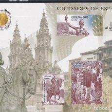Sellos: ESPAÑA.- PRUEBA EXCLUSIVA PARA ABONADOS DEL S.F.C. CIUDADES DE ESPAÑA 2018. Lote 235122960