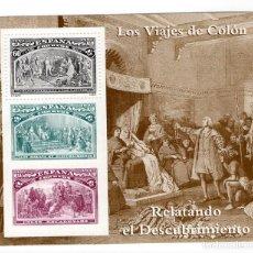 Sellos: ESPAÑA - V CENTENARIO DEL DESCUBRIMIENTO DE AMERICA / RELATOS - AÑO 1992 - 1 HB NUEVA. Lote 237022380