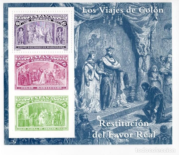 ESPAÑA - V CENTENARIO DEL DESCUBRIMIENTO DE AMERICA / RESTITUCION - AÑO 1992 - 1 HB NUEVA (Sellos - España - Pruebas y Minipliegos)