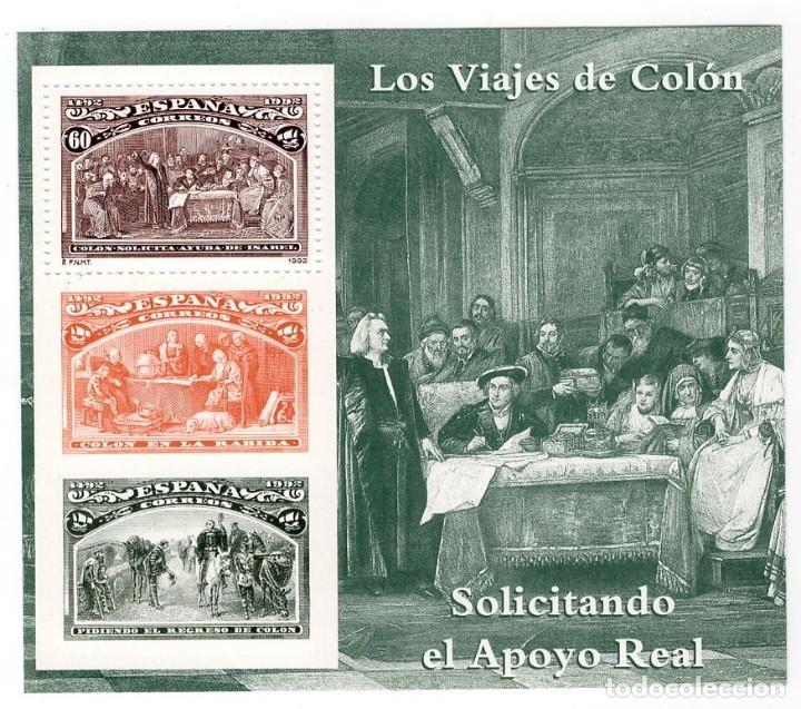 ESPAÑA - V CENTENARIO DEL DESCUBRIMIENTO DE AMERICA / SOLICITANDO APOYO REAL - AÑO 1992 - 1 HB NUEVA (Sellos - España - Pruebas y Minipliegos)