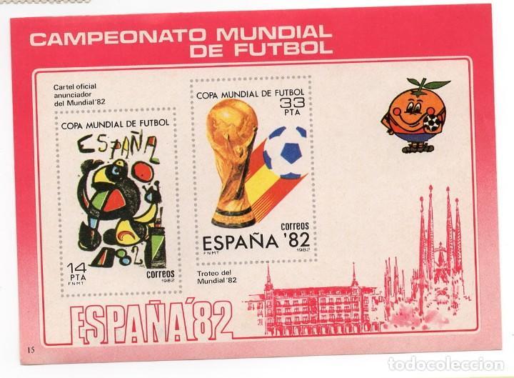 ESPAÑA 82 - CAMPEONATO MUNDIAL DE FUTBOL / NARANJITO - AÑO 1982 -1 HOJA RECUERDO (Sellos - España - Pruebas y Minipliegos)