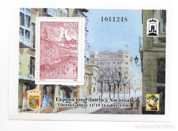 ESPAÑA - EXPOSICION FILATELICA NACIONAL ESFILNA 96 / VITORIA - AÑO 1996 - HB NUEVA (Sellos - España - Pruebas y Minipliegos)