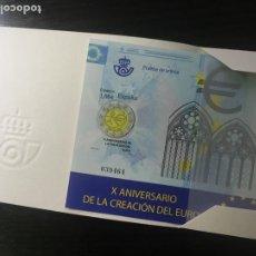 Selos: PRUEBA FILATÉLICA DE ARTISTA - Xº ANIVERSARIO DE LA CREACIÓN DEL EURO 2009 - Nº 98. Lote 237908865
