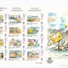Sellos: ESPAÑA 1999 MINI PLIEGO 12 SELLOS CORRESPONDENCIA EPISTOLAR ESCOLAR.. Lote 245203225