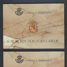 Sellos: ESPAÑA. AÑO 1998.DOS CARNÉS DE DON JUAN CARLOS I.. Lote 252931105