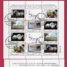 Sellos: ESPAÑA. EXPOSICIÓN MUNDIAL FILATELIA. ESPAÑA 2000. 2 MINI PLIEGOS.. Lote 252960365