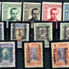 Francobolli: ESPAÑA (BENEFICENCIA- HUÉRFANOS DE CORREOS) Nº NE9/11/13, 14/18. AÑO 1937. Lote 253145340