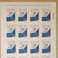 Sellos: PLIEGO 20 SELLOS DE 0,28 EUROS - AÑO MUNDIAL DE LA FÍSICA - EDIFIL 4163. Lote 261174960