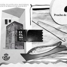 Sellos: [D0045] ESPAÑA 2014. PRUEBA DE ARTISTA EXFILNA 2014 (M). Lote 268981799