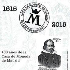 Sellos: [D0052] ESPAÑA 2015. PRUEBA DE ARTISTA 400 ANIV. CASA DE LA MONEDA (M). Lote 269163218