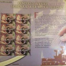 Sellos: ESPAÑA 2019 TRIBUTO A LA MUJER TELEGRAFISTA:C. ÁLVAREZ VIOLETA PLIEGO PREMIUN 8V 009005. Lote 276285593