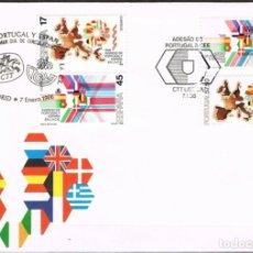 Sellos: [B0160] ESPAÑA 1986, FDC SERIE CONJUNTA CON PORTUGAL (NS). Lote 277110048