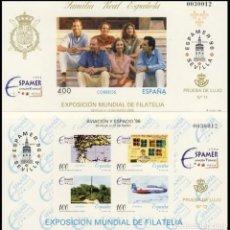 Sellos: PRUEBA DE LUJO, ESPAÑA. AÑO 1996, EDIFIL Nº 58/59 ''EXPAMER Y AVIACIÓN Y ESPACIO 96 - SEVILLA'' MNH.. Lote 277112133