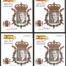 Sellos: PRUEBA DE LUJO, ESPAÑA. AÑO 1998, EDIFIL Nº 64A/64D ''JUAN CARLOS I'' (NUEVA, MNH).. Lote 277117553