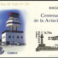 Sellos: PRUEBA DE LUJO, ESPAÑA. AÑO 2003, EDIFIL Nº 82 ''CENTENARI AVIACIÓN'' (NUEVA, MNH).. Lote 277252713