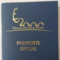 Sellos: CARNET PASAPORTE EXPO MUNDIAL 2000 MADRID. VER FOTOS Y DESCRIPCION. Lote 277262828