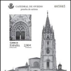 Sellos: PRUEBA DE LUJO, ESPAÑA. AÑO 2012, EDIFIL Nº 109 ''CATEDRAL: OVIEDO'' (NUEVA, MNH).. Lote 277286273