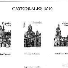 Sellos: CATEDRALES 2010 - PRUEBA CALCOGRÁFICA - EDICIÓN LIMITADA Nº 009768 - 148X105 MM.. Lote 279415818