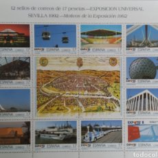 Sellos: 6 PLIEGOS DE 17 PESETAS EXPO 1992.. Lote 279441598