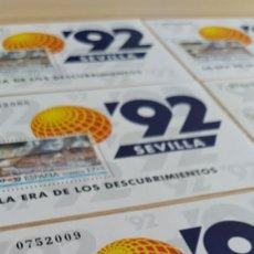 Sellos: 6 SELLOS 17+5 ERA DE LOS DESCUBRIMIENTOS 92. Lote 279444778