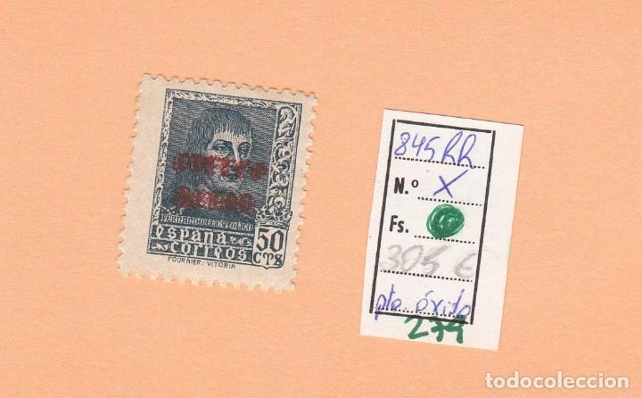 CRSE0279 OFERTA 50% SOBRE CATALOGO SELLO Nº 845RR X DOBLE SOBRECARGO 150 (Sellos - España - Pruebas y Minipliegos)