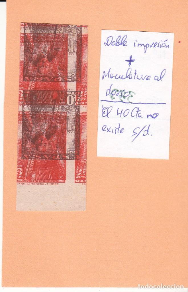 Sellos: CRSE0337 OFERTA 50% SOBRE CATALOGO SELLO Nº 1027XX DOBLE IMPRESION MAS DORSO 250 - Foto 2 - 280391858