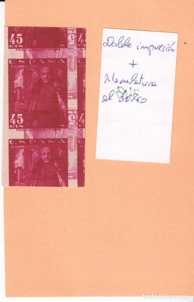 Sellos: CRSE0343 OFERTA 50% SOBRE CATALOGO SELLO Nº 1028XX DOBLE IMPRESION 205 - Foto 2 - 280392128