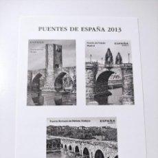 Sellos: ESPAÑA - PRUEBA CALCOGRÁFICA PUENTES DE ESPAÑA 2013 - NUEVO. Lote 285265778