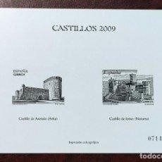 Sellos: ESPAÑA 2009 - PRUEBA OFICIAL ESPECIAL CASTILLOS 2009 - NUEVA - TIRADA LIMITADA.. Lote 285268678