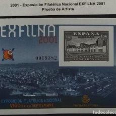 Selos: PRUEBA DE ARTISTA EXFILNA 2001 VIGO. 0019382. NUEVA. Lote 286821568