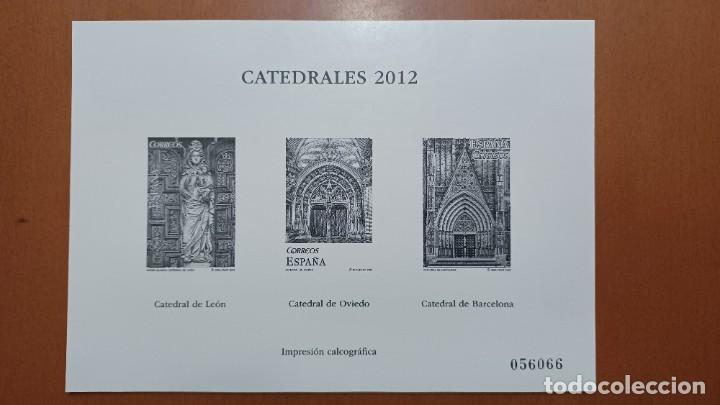 SELLOS ESPAÑA OFERTA IMPRESIÓN CALCOGRÁFICA 2012 (Sellos - España - Pruebas y Minipliegos)