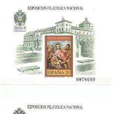 Sellos: ESPAÑA.2 HOJITAS BLOQUE.EXFILNA 1989.PRUEBA OFICIAL Nº 19 SIN DENTAR. Lote 291505368