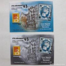 Sellos: FERIA EXPOSICION FILABARNA 93 DOS COLORES. Lote 293940983