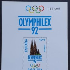 Francobolli: ESPAÑA PRUEBA OFICIAL EDIFIL 26 – OLYMPHILEX 92 BARCELONA – LUJO, ARTISTA 1992. Lote 295322153