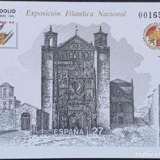 Francobolli: ESPAÑA PRUEBA OFICIAL EDIFIL 27 – EXFILNA 92 VALLADOLID – LUJO, ARTISTA 1992. Lote 295328518