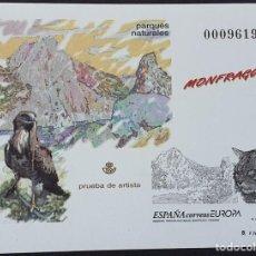 Francobolli: ESPAÑA PRUEBA OFICIAL EDIFIL 69 – RESERVAS Y PARQUES NATURALES – LUJO, ARTISTA 1999. Lote 295333668