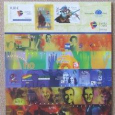 Sellos: PLIEGO HOJA BLOQUE SALAMANCA 2002 CIUDAD EUROPEA DE LA CULTURA - NUEVA. Lote 296859873