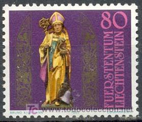 LIECHTENSTEIN - 16º CENTENARIO DE SAN TEODULO. NUEVO CON GOMA ORIGINAL (Sellos - Temáticas - Religión)