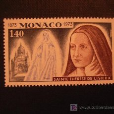 Sellos: SELLO DE MONACO Nº YVERT 930*** AÑO 1973. CENTENARIO NACIMIENTO SANTA TERESA DE LISIEUX. Lote 114945711