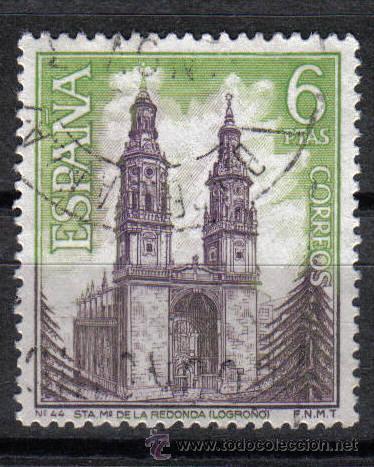 ESPAÑA 1969 - 6 P EDIFIL 1938 - STA. MARIA DE LA REDONDA (LOGROÑO) - USADO (Sellos - Temáticas - Religión)