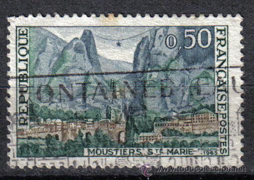 FRANCIA 1965 0.5 F YVERT 1436. MONASTERIO SANTA MARIA (Sellos - Temáticas - Religión)