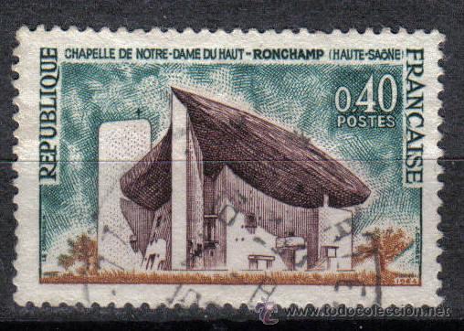 FRANCIA 1965 0.4 F YVERT 1435. CAPILLA NOTRE- DAME DU HAUT (Sellos - Temáticas - Religión)