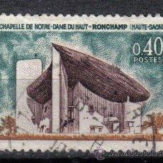 Sellos: FRANCIA 1965 0.4 F YVERT 1435. CAPILLA NOTRE- DAME DU HAUT. Lote 8153155