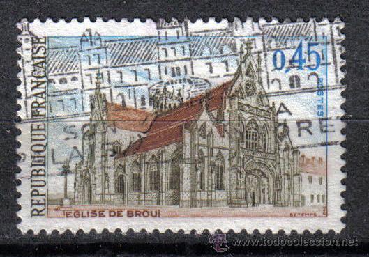 FRANCIA 1969 0.45 F YVERT 1582. IGLESIA DE BROU (Sellos - Temáticas - Religión)