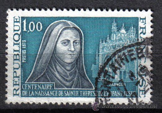 FRANCIA 1973 1 F YVERT 1737. SANTA TERESA DEL NIÑO JESUS (Sellos - Temáticas - Religión)