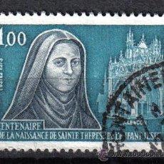 Sellos: FRANCIA 1973 1 F YVERT 1737. SANTA TERESA DEL NIÑO JESUS. Lote 8153195