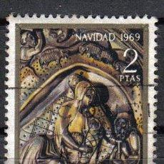 Sellos: ESPAÑA 1969 2 P EDIFIL 1945. RETABLO CATEDRAL DE GERONA. Lote 8153224